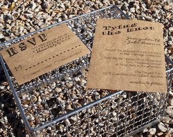 Simple Wedding Invitations - Country Wedding Invitations