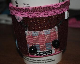 Handmade Robot Coffee Sleeve