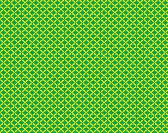 Dinosaur Fabric, Bedrock, Green fabric, Green Diamond Fabric, by Kanvas Studio, 8205-44