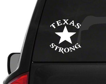 Texas Strong Star (H4) Dallas Support Vinyl Decal Sticker Car/Truck Laptop/Netbook