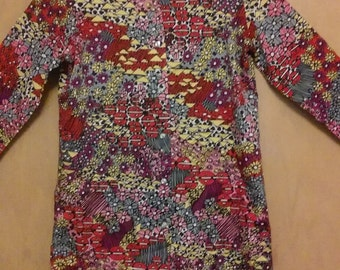 60s/70s Authentic Vintage Psychadelic/Psychedelic Geometric Blouse by DonnKenny