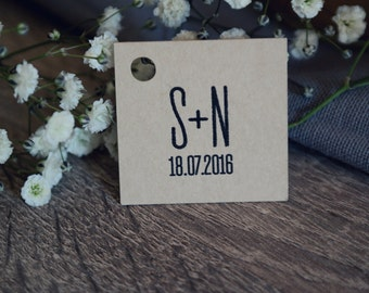 40 sand kraft labels to customize