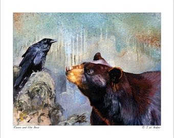 8x10 Print - Raven and the Bear © J W Baker