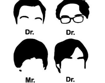 Big Bang Theory Decal - Bazinga - Nerd - Scientist - BBT