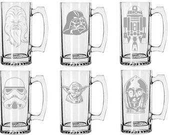 Star Wars Etched Glass Barware