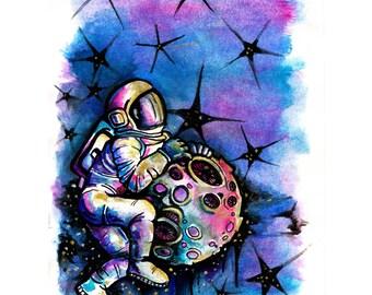 Spaceman (original art)