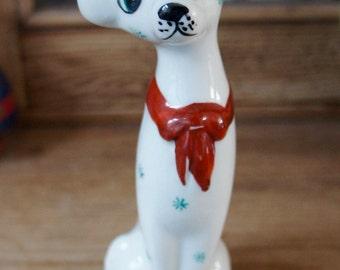Sweet Vintage Retro 1980s Ceramic Dalmation Dog With Neck Tie