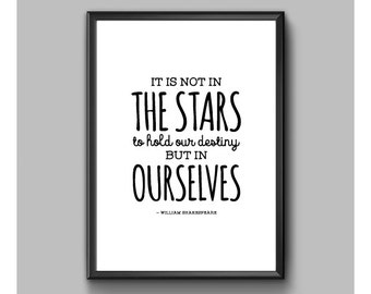 Digital Print – Shakespeare – Not In The Stars