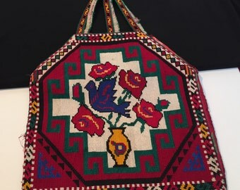 Vintage Purse-vintage Embroidered Purse-Handmade Kochi Purse-Colorfull Natural die Embroidery Purse....