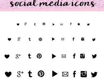 Black Social Media Icons, Simple Social Media Icons, Social Media Icons. Social Media Icons Set.