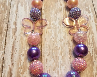 Butterfly BubbleGum Necklace