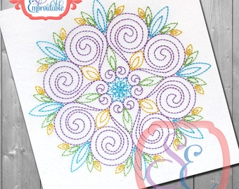 MICHELLE MANDALA Design For Machine Embroidery -  Instant Download