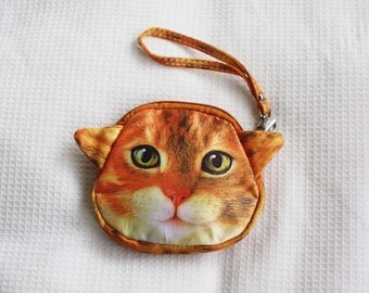 Ginger cat pouch