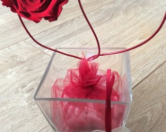 Preserved rose heart or I love you