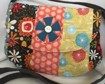 Retro design patchwork purse bag