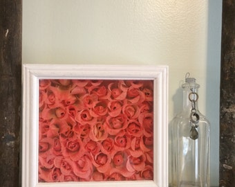 Peach Rose Shadowbox