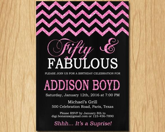 30th 40th 50th 60th birthday invitation women black pink glitter il570xn filmwisefo