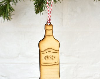 Whiskey Wooden Christmas Decoration [BTLDEC-002]
