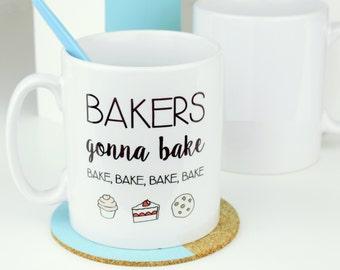 Bakers Gonna Bake Emoji Mug - Funny Mug - Baking Gifts - Taylor Swift Mug - Taylor Swift Quote - Mug for Bakers - Music Gift [MUG068]