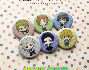 Bungo Stray Dogs Pinback Button Set!