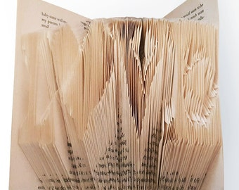 Love - Unique Folded Book Art
