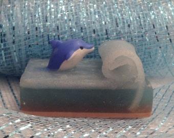 Handcrafted Goat's Milk Soap Dolphin Iwako Eraser