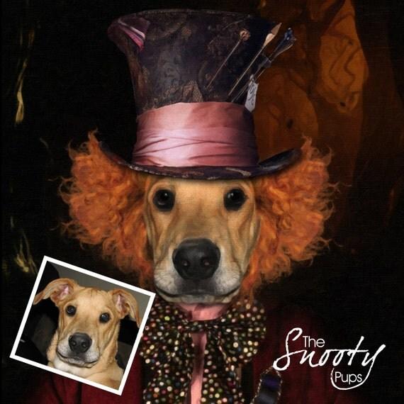 Mad Hatter Pet Portrait