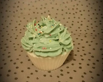 Soy wax cupcake candle