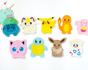 Pokemon Inspired Finger Puppets