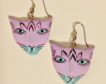 Laurel Burch Jewelry - Your Choice of 3 Styles of Adorable  Cats -Similar Burch Style Jewelry -Artsy-Cats-Animals