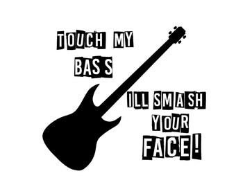 Bass Guitar TShirt Band Tee T-Shirt Bassist Bass Player Muscian