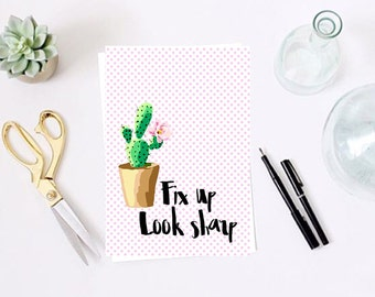 Fix up look sharp Cactus Pink polka dot print