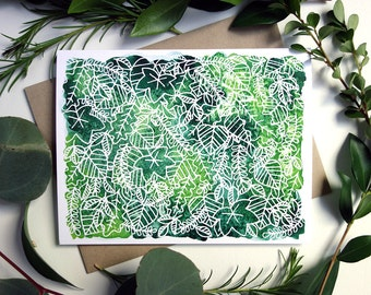 Greenery Greeting Cards - Set of 10
