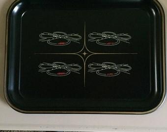 4 Vintage Bar Trays Depicting Semi's on the Interchange