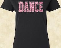 Dance T Shirt Pink Dance T Shirt Love Pink Rhinestones Fabric Studs Dance T Shirt Flawless Ladies T Shirt Tees Shirt Women T Shirt Tees