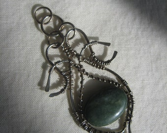 Silver/Jade Pendant.