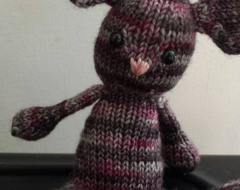 Hand knitted cute mouse