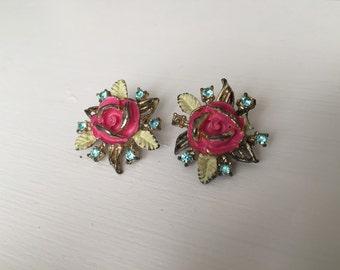 Vintage Floral Collar Pins