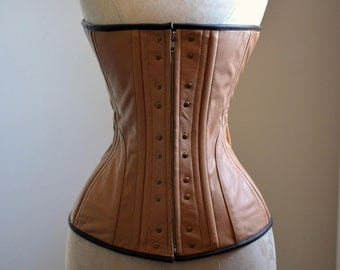 Real leather Ciri cosplay corset, steel boned made to measures cosplay exclusive corset, steampunk leather corset