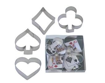 Diamond, Spades, Hearts, ClubsTinplated Steel Cookie Cutter Set - 1865