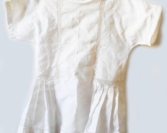 Garment former baby - white dress with old embroideries