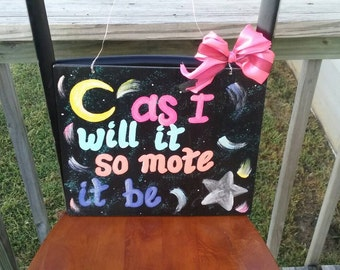 As I will it.... handcrafted and painted wall decor