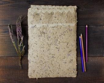 Handmade paper - Lace paper - Petal papers - Textured paper - Art paper - Deckle edge - Eco friendly paper (#25lb)