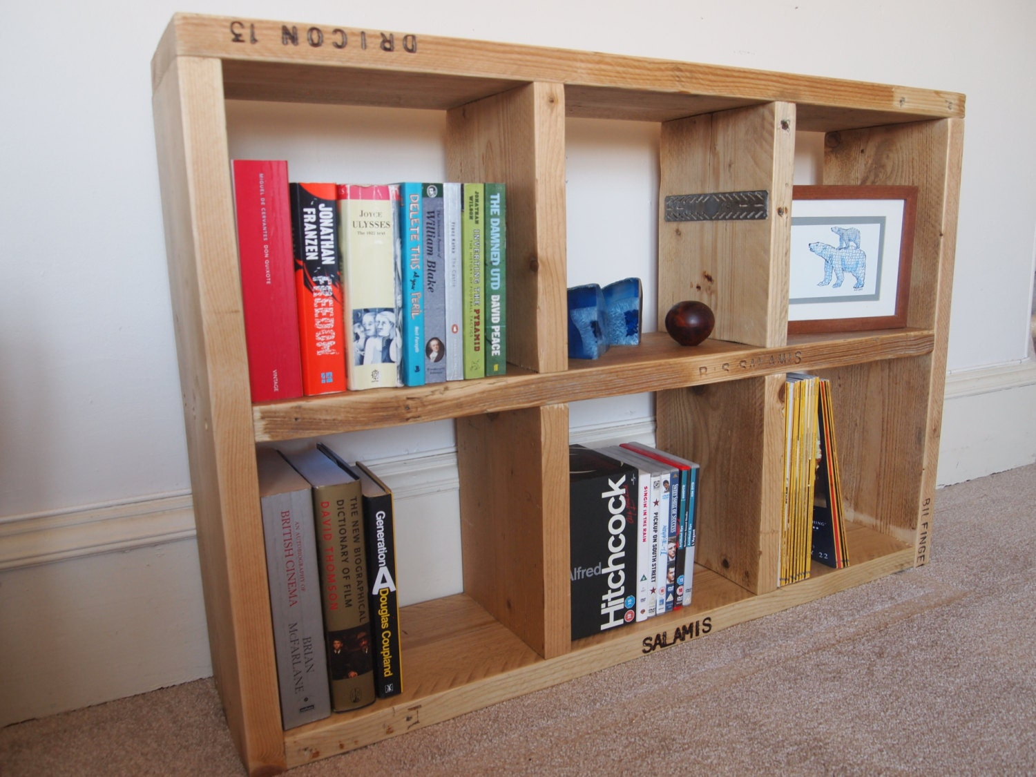 Reclaimed Scaffolding Board Bookcase Or Display Unit