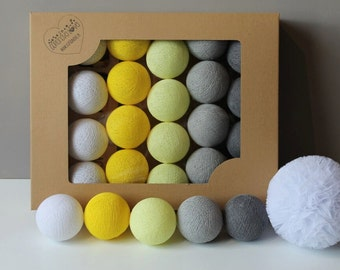 Cotton Balls Smokey Yellow 35 items