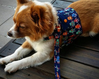 Robot Harness with Pockets, Dog Vest, Pet Accessories, Chihuahua Harness