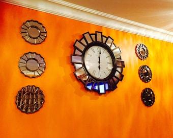 Hand painted metal Wall Clock sets