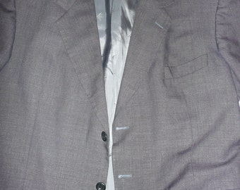 Vintage Men's YSL Pour Homme gray Jacket blazer made in France  56