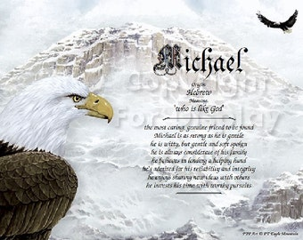 Eagle Personalized Name Meaning Print