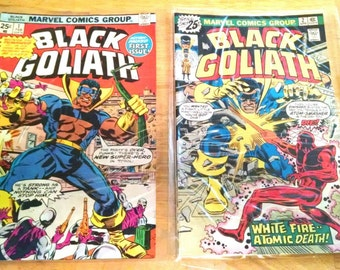 Black Goliath, Marvel. 1976 #1 and #2 of a 5 comic series.